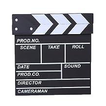 Susada Clap-stick / Clapper board / Clapboard Cut Action Scene Ornaments Studio Movie (Small, Black)