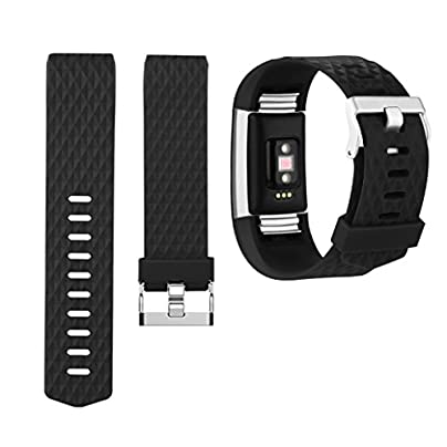 Yoowei Fitbit Charge Strap Bands Replacement Soft Gel Silicone Bracelet Replacement Band for Fitbit Charge Smartwatch Heart Rate Fitness Wristband Estimated Price £0.99 - £29.99 -