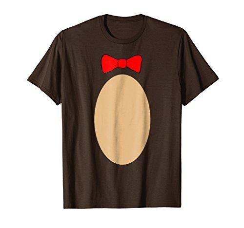 Mens Teddy Bear Shirt | Trendy DIY Costume Cute Top Funny T shirt 3XL Brown