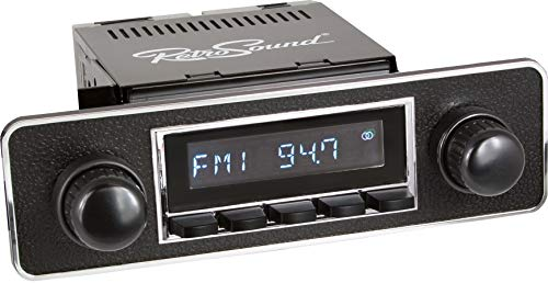 Retro Manufacturing Long Beach Radio with Chrome Face, Black Pushbuttons, Bezel & Knobs Kit LCB-M4-502-36-96