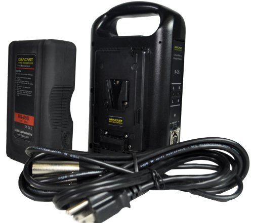 Dracast DR-1x89S-1xCH2V-KIT V-Mount Battery and Charger Kit, Black by Dracast