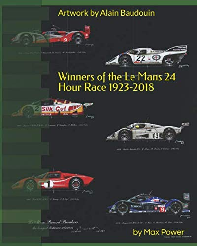 Winners of the Le Mans 24 Hour Race 1923-2018: Alain Baudouin who was appointed  Official painter of the 24 Hours of Le Mans by the A.C.O in 2013  has painted every car in stunning detail. (2013 24 Hours Of Le Mans Results)