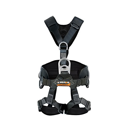 Fusion Climb Tac Rescue Tactical Full Body EVA Padded Heavy Duty Steel Adjustable Zipline Harness 23kN L-XL ()