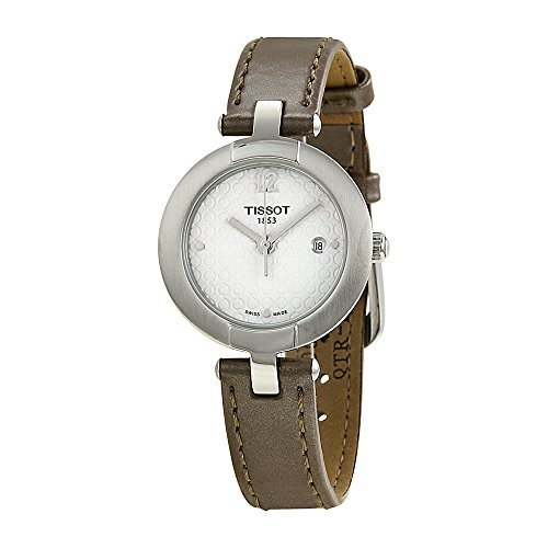 Tissot T-Trend White Dial Brown Leather Woman's Watch T0842101601701