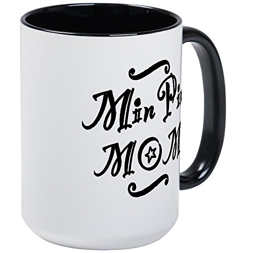 CafePress - Min Pin MOM - Coffee Mug, Large 15 oz. White Coffee Cup