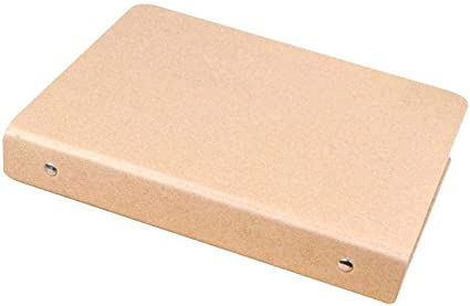 Archivador de anillas A4 / A5 / A6 Kraft Folder Documents 2 diseño carpeta con funda deslizante caja de suministros de oficina escuela (sin hojas) por EBHRDFFA: Amazon.es: Oficina y papelería