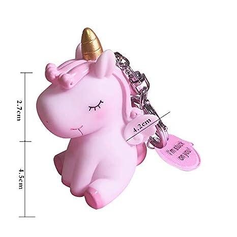 Kanggest. Llavero Colgante Clave pompón de Pelo de Peluche Hembra Chica Unicornio Colgante Original Accesorio para el Pelo Bolsa Coche Anillo de ...