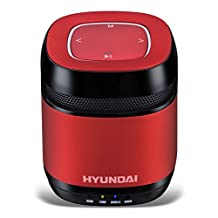 The latest stylish Hyundai i70 portable Bluetooth speaker /Support LINE IN / pro radio FM play (Red)