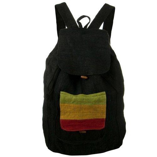 Rasta Hemp Backpack - Black RGY (Rasta Hemp)