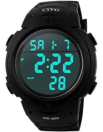 b63f2731f4f85 Men s Sport Watch by CIVO Multifunctional Military Waterproof Simple Design  Big Numbers Digital LCD Screen Casual