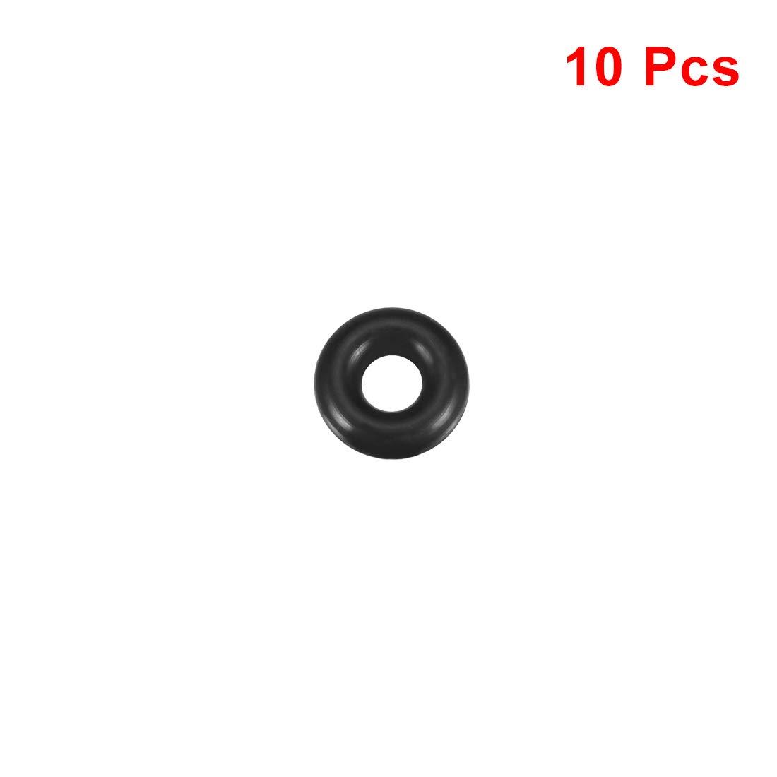 3,5mm Breite de 6mm Innendurchmesser O Ringe Nitrile Gummidichtung sourcing map 10 Stk