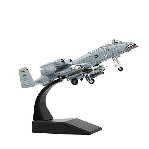 1/100 Scale A-10 Thunderbolt II Warthog Attack Plane Metal Fighter Military Model Fairchild Republic Diecast Plane Model for Commemorate Collection or Gift