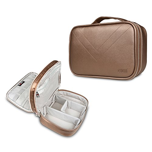 Beaspire BUBM Universal Double Layer Carry Case for USB Cable Battery Phone Charger Case Travel Organiser Padded Electronic Laptop Adapter Case