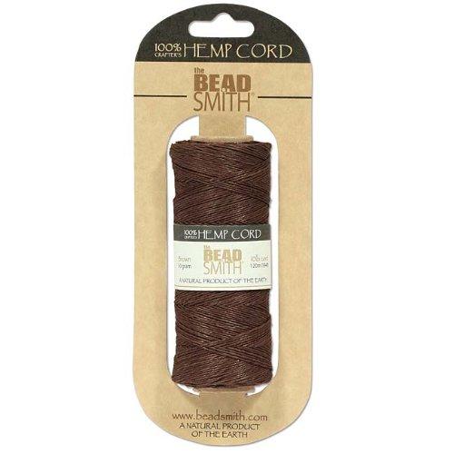 Natural Hemp Twine Bead Cord Brown Color 0.55mm / 394 Feet (120 - Hemp Beadsmith