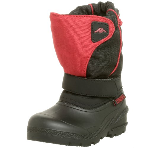 Tundra Quebec Boot (Toddler/Little Kid/Big Kid),Black/Red,6 M US (Clearance Boys Shoes)