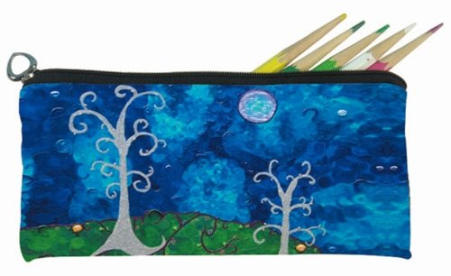 Whimsical Trees Small Pencil Bag, Eye Glasses Case