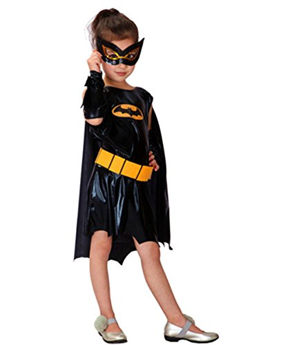 [Halloween Costumes Batgirl Fancy Dress Cosplay Movie Comics Role Party Outfit Girls] (Batgirl Costumes Cosplay)