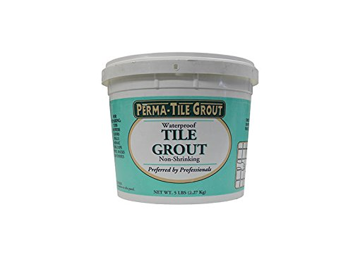 CMP 5 LB Waterproof Stain Resistant White Tile Grout - USA Made (Best Stain Resistant Grout)