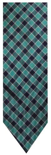 - Tommy Hilfiger Neck Tie Green and Navy Diamond Pattern