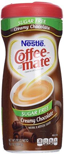 Coffee-mate SUGAR FREE CREAMY CHOCOLATE FLAVOR POWDERED CREAMER, 10.2 OZ, Case of 3