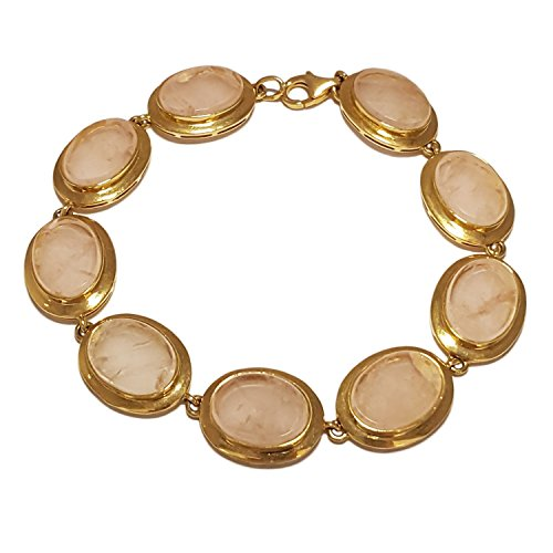 Clearance Bracelet Femme en Or 18 carats Jaune avec Pierres Dures, Cm 19, 29 Grammes