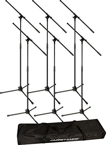 Ultimate Support JS-MCFB6PK JamStands Series 6-Pack Tripod Mic Stand Bundle