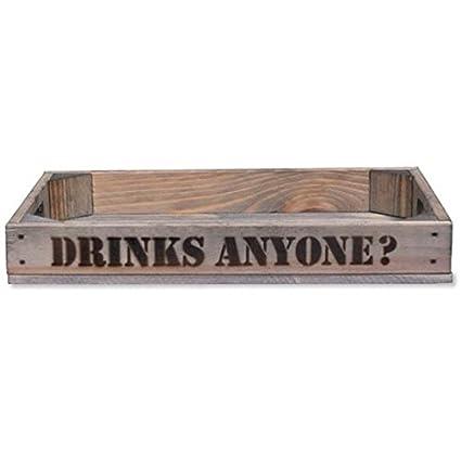 CKB Ltd® de Madera Bandeja para Servir Bebidas - Anyone - Retro ...