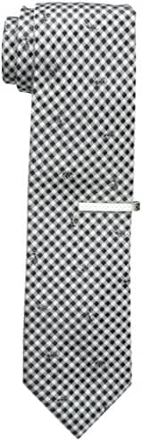 Nick Graham Men's Lattice with Ant Tie, Black, One Size