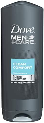 Dove Men + Care Body and Face Wash, Clean Comfort, 18 Ounce (Pack of 3)