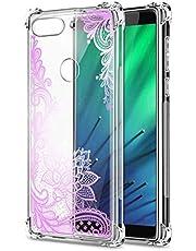 Oihxse Cristal Compatible con Samsung Galaxy A10 Funda Transparente TPU Silicona Estuche Airbag Esquinas Anti-Choque Anti Rasguños Diseño Rosa Flower Caso (Flores B9)