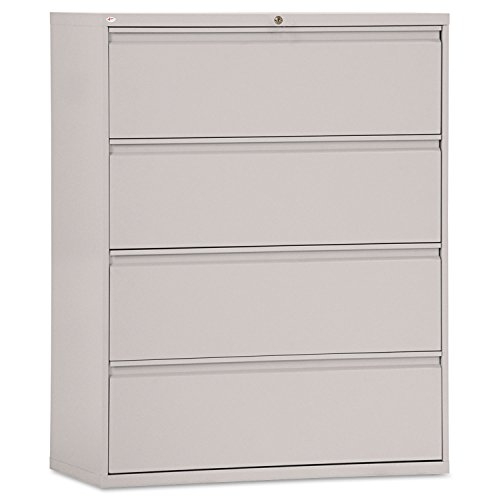 Alera Four-Drawer Lateral File Cabinet, 42w x 19-1/4d x 54h, Light Gray
