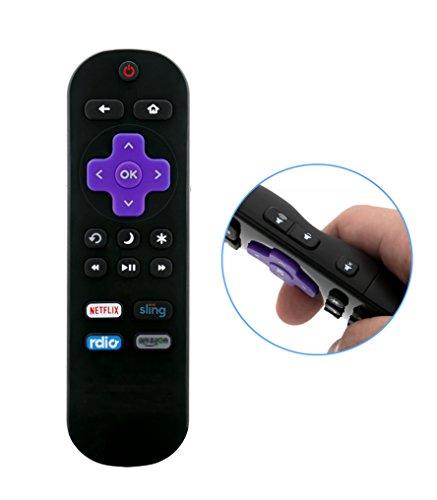 VINABTY HTR-R01 Remote fit for Haier roku TV 32E4000R 43E4500R 49E4500R 55E4500R 32E4000RA 32E4500R 32E4500RA 43E4500RA 43E4500RB 49E4500RA 55E4500RA 55E4500RB 398GR10BEHRN0000CR (Haier Control Remote Tv)