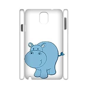 Lycase(TM) Cute Hippo DIY Hard Back 3D Cover Case, Custom Cute Hippo Samsung galaxy note 3 N9000 3D Case
