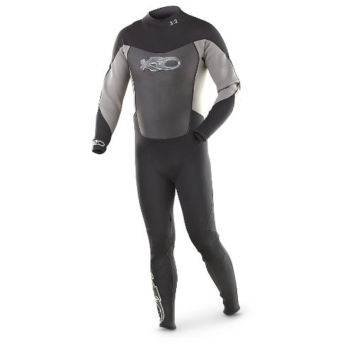 X2O Men's Full Wetsuit, Black, - Wetsuit Sizing Guide