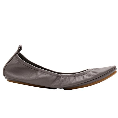 Shoes Travel Flats Shoes Ballerina Comfort Fashion Round Calfskin Toe Pocket Flats Nutsima Leather Lea Foldable Portable Grey Ballet Women Eq7xB