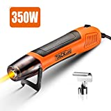 TACKLIFE Mini Heat Gun Max Heating up to 662°F(350°C), 350W Handheld Hot air Gun,with One Nozzle Attachment, 2M Powercord Comfortable Soft Rubber for DIY, Drying Paint, Shrinking PVC | HGP35AC