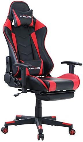 ALPHA HOME Gaming Chair Ergonomic Office Chair Racing Chair - a good cheap computer gaming chair
