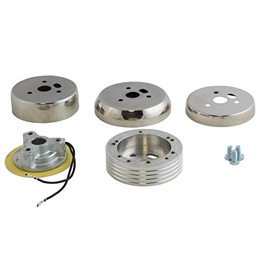 5 & 6 Hole Polished Hub Adapter Installation Kit B01 For Aftermarket Steering Wheels