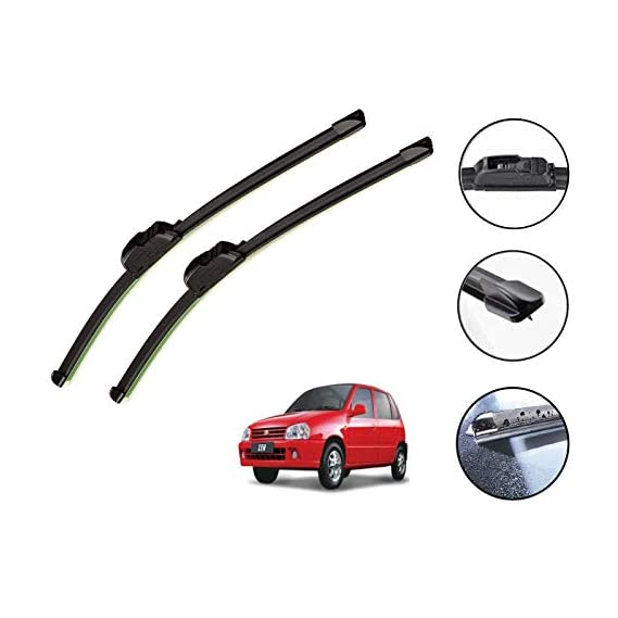 Auto Hub Car Wiper Blades for Maruti Suzuki Zen - Set of 2 Pcs (D-20,P-17)