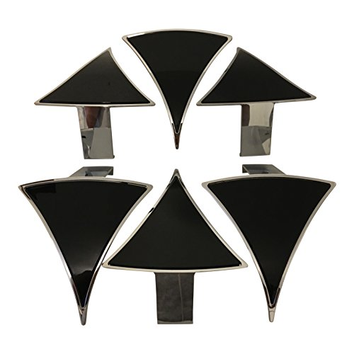 Photo Lexani Wheels Dial PD-CVPCA 718(24) Black Wheel Inserts Set of 6 Fits 24 Inch Wheel
