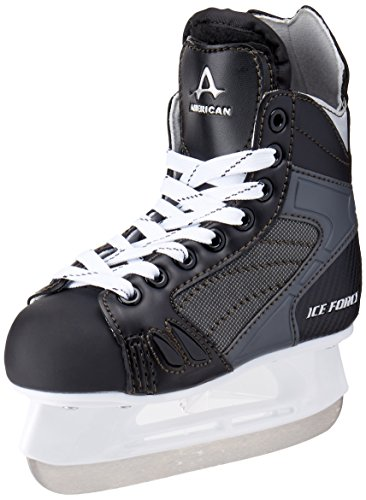 American Athletic Shoe Boys Ice Force Hockey Skates, Black, 10 Y