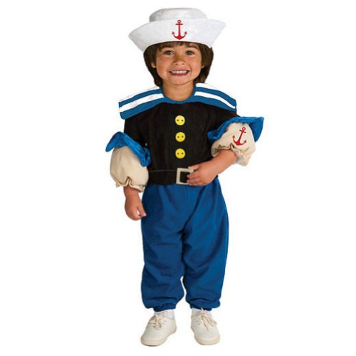 Rubies Toddler Boys Muscle Sailor Costume Popeye -