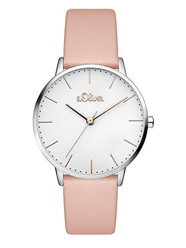 s.Oliver Women's Analogue Quartz Wrist Watch with Leather Strap