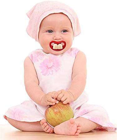 Chupetes divertidos para el bigote del beb/é dise/ño lindo del pacificador del silic/ón suave de Maberry con el labio del beso /…