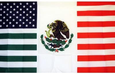 3x5 Feet USA Mexico Friendship Flag United States American Mexican Banner