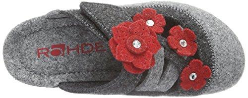 Rohde Neustadt-d, Zuecos para Mujer Gris - Grau (Grau 80)