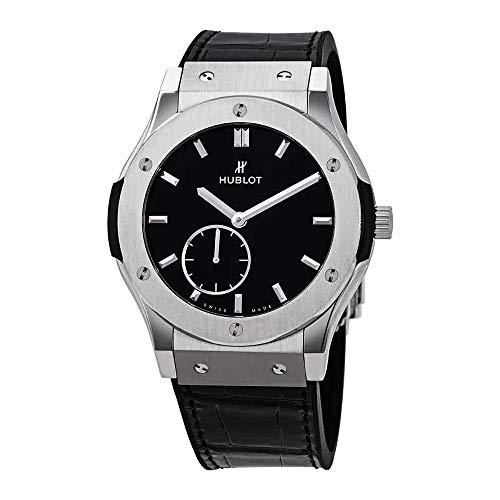 Hublot Classic Fusion Ultra Thin Titanium Automatic Black Dial Men's Watch 545.NX.1270.LR