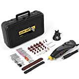 Rotary Tool Kit, Detlev Pro Rotary Multi Tool with Flex Shaft and 100 Accessories, 6 Speed 8000-32000rpm, RTM4132-10E