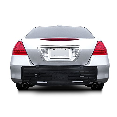 FH Group F16408 Black-F16408 F16408BLACK Universal Fit Rear BumperButler Bumper Guard - Nissan 03 Sentra Bumper