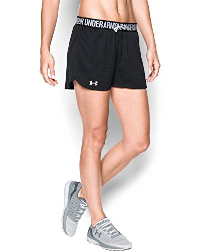 Under Armour Women's Play Up Mesh Short, Black (001), Large